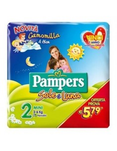 PANNOLINO PER BAMBINO PAMPERS SOLE & LUNA FLASH MINI 21...