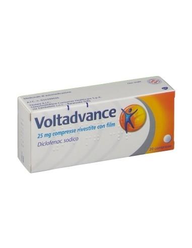 Voltadvance 25 Mg di Diclofenac 20 Compresse Rivestite con..