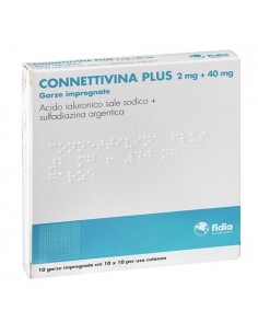 CONNETTIVINA PLUS 10 GARZE10x10 CON ANTIBIOTICO