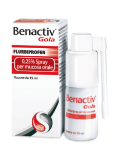 Benactiv Gola Spray 15 ml 0,25%