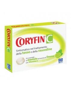 Coryfin C 24 Caramelle Gusto Limone Per Tosse e Raucedine