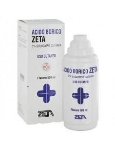 ACIDO BORICO ZETA 3% 500 ml SOLUZIONE CUTANEA