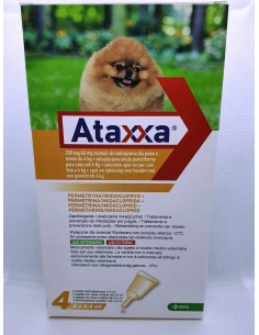 ATAXXA SPOT-ON 4 PIPETTE 4 ML CANI FINO A 4 KG -...