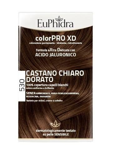 Euphidra Colorpro Xd 530 Castano Chiaro Dorato Gel Colorante Capelli In Flacone Attivante Balsamo Guanti